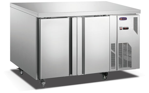 2 Solid Door CONQUEST LPW7T2H GN PREMIUM Underbar Freezer - Cambridge Commercial Equipment