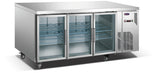 3 Glass Door MPW7T3D GN Underbar Refrigerator - Cambridge Commercial Equipment