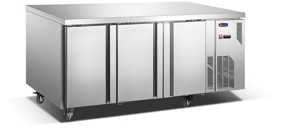 3 Solid Door CONQUEST LPW7T3H GN PREMIUM Underbar Freezer - Cambridge Commercial Equipment