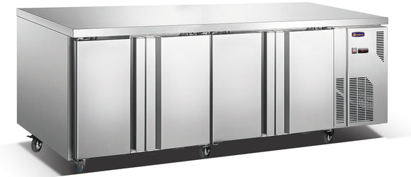 4 Solid Door CONQUEST MPW7T4H GN PREMIUM Underbar Refrigerator - Cambridge Commercial Equipment