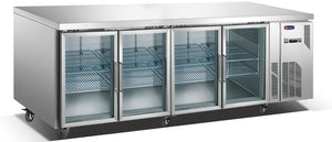 4 Glass Door MPW7T4D GN Underbar Refrigerator - Cambridge Commercial Equipment