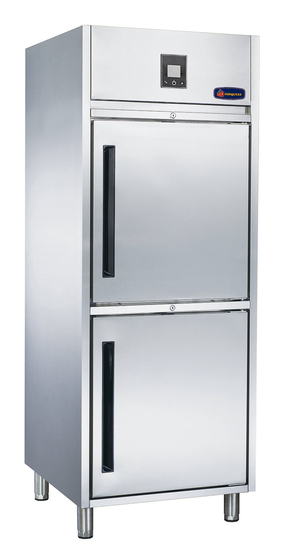 2 Half door MPW8U1HH CONQUEST PREMIUM Upright GN Refrigerator - Cambridge Commercial Equipment