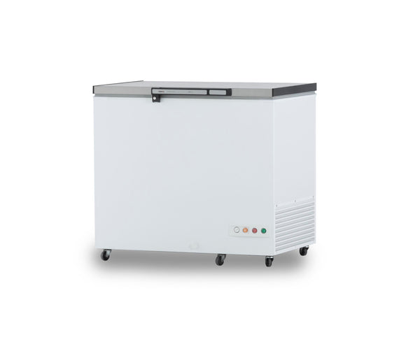 300 litres Stainless Steel Lid PREMIUM Commercial Freezer - Cambridge Commercial Equipment