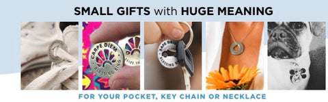 blessing rings on keychains and necklace - small gifts with huge meaning
