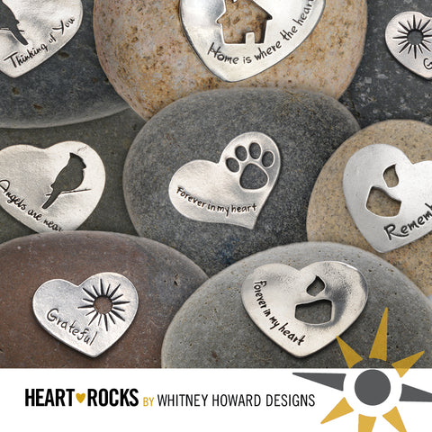 assorted heart rocks next to each other