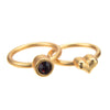 January Garnet Birthstone Ring Set - Whitney Howard Designs