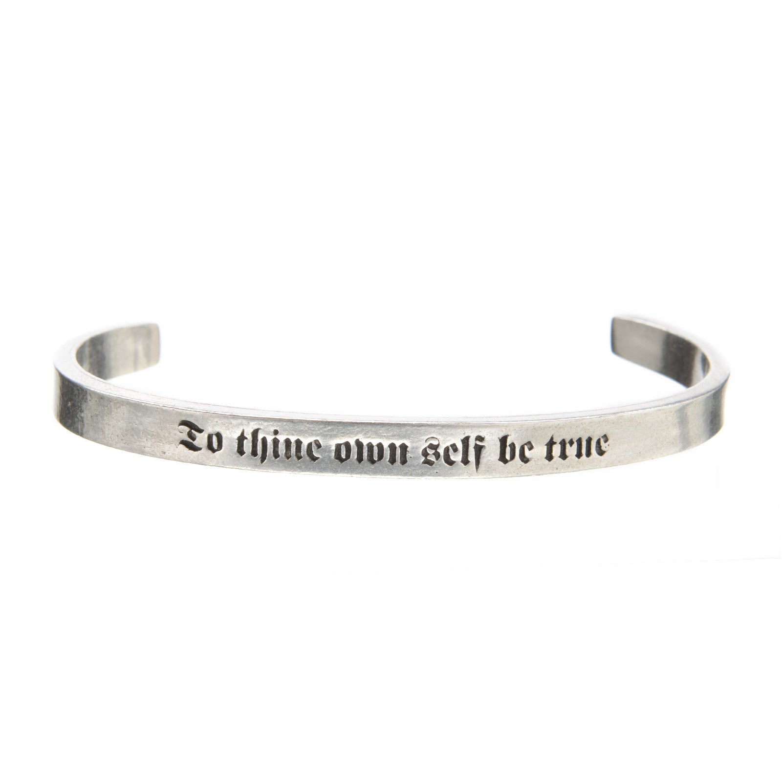 To Thine Own Self Be True Quotable Cuff - Whitney Howard Designs