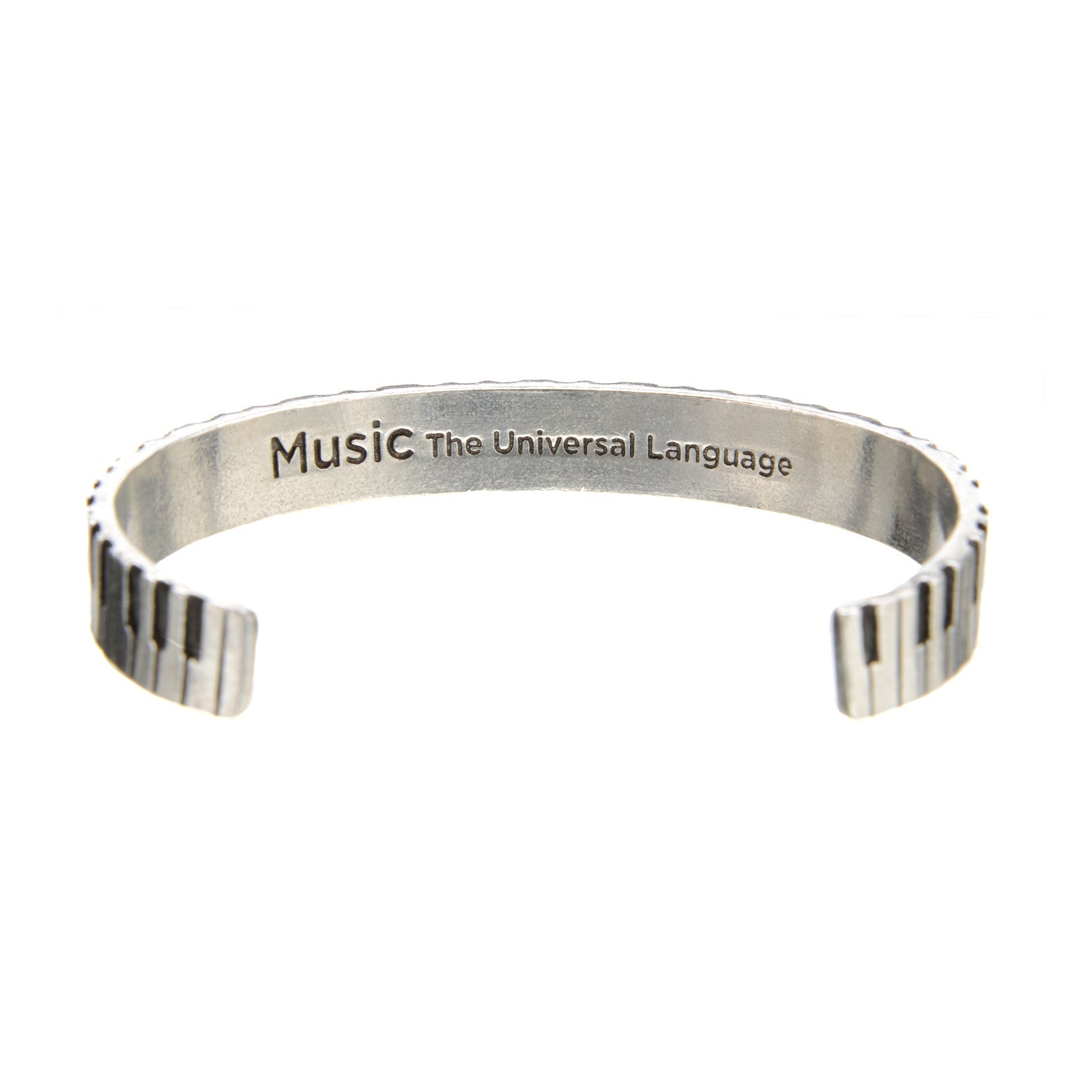 Piano Cuff Inspirational Jewelry Bracelet - Great Gift for Teachers, Musicians, and Music Students By Quotable Cuffs - Whitney Howard Designs