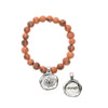 Tiger Tangerine Acai Seeds of Life Bracelet with Wax Seal - Whitney Howard Designs