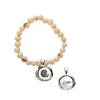 White Acai Seeds of Life Bracelet with Wax Seal - Whitney Howard Designs