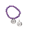 Purple Acai Seeds of Life Bracelet with Wax Seal - Whitney Howard Designs