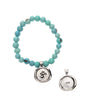 Turquoise Acai Seeds of Life Bracelet with Wax Seal - Whitney Howard Designs