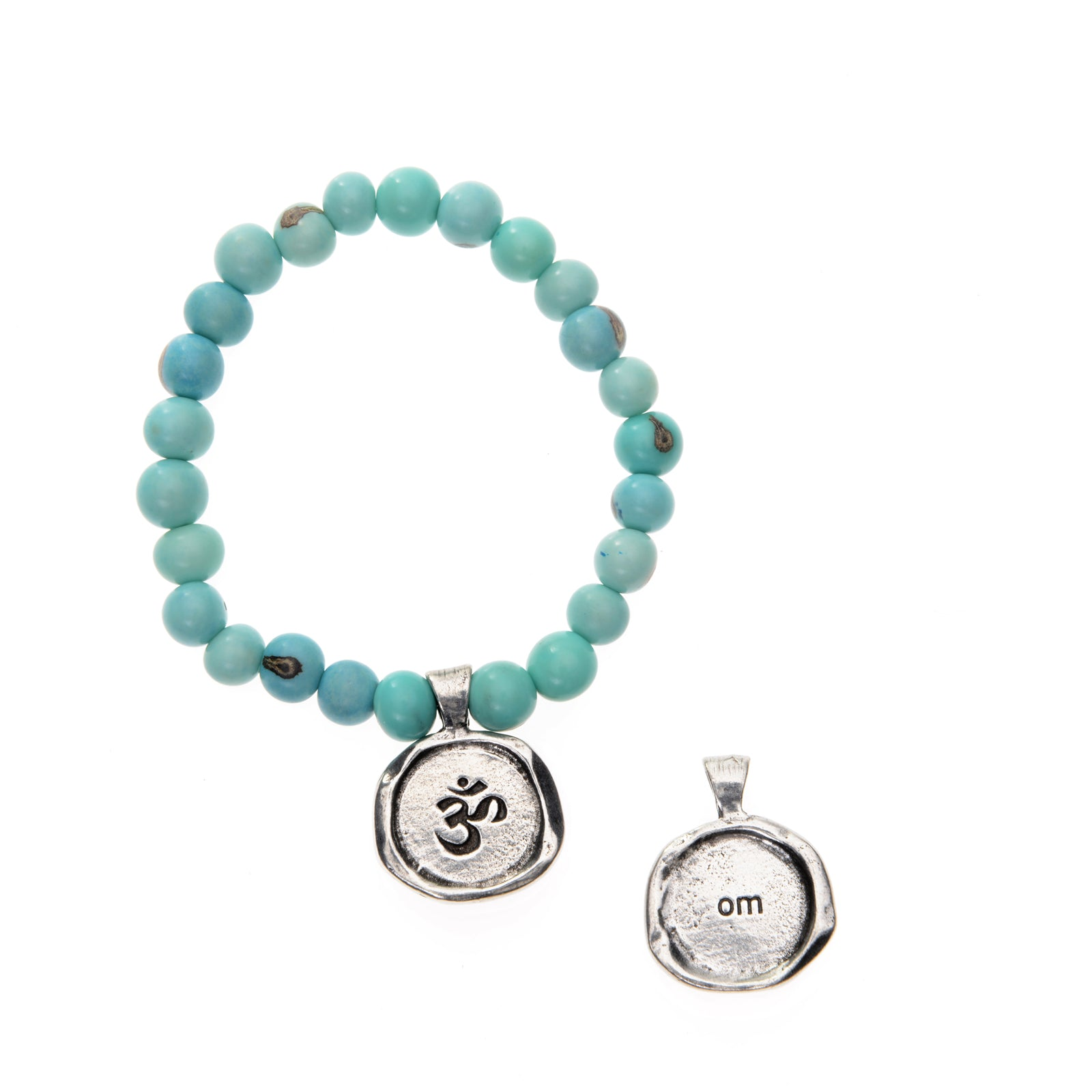 Turquoise Acai Seeds of Life Bracelet with Wax Seal