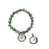 Tiger Aqua Acai Seeds of Life Bracelet with Wax Seal - Whitney Howard Designs