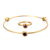 January Garnet Birthstone Bangle Set - Whitney Howard Designs