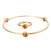 November Topaz Birthstone Bangle Set - Whitney Howard Designs