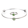 August Peridot Birthstone Bangle Set - Whitney Howard Designs