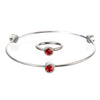 July Ruby Birthstone Bangle Set - Whitney Howard Designs