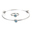 March Aquamarine Birthstone Bangle Set - Whitney Howard Designs