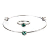 May Emerald Birthstone Bangle Set - Whitney Howard Designs