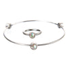 October Opal Birthstone Bangle Set - Whitney Howard Designs