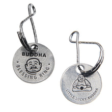 Buddha Blessing Ring Charm, Pewter, Handcrafted