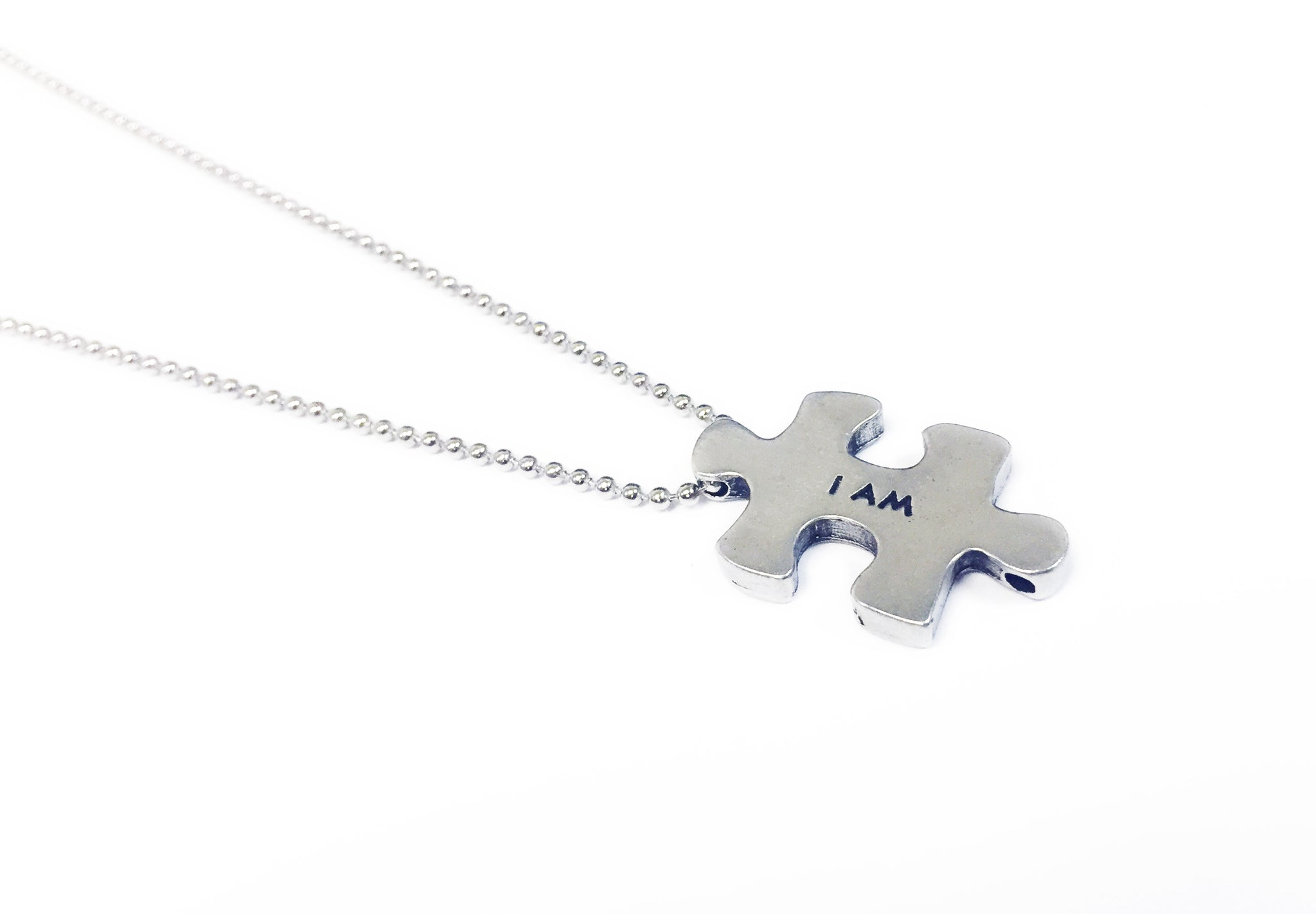 """I AM"" Puzzle on Ball Chain Necklace (Click to see options) - Whitney Howard Designs"