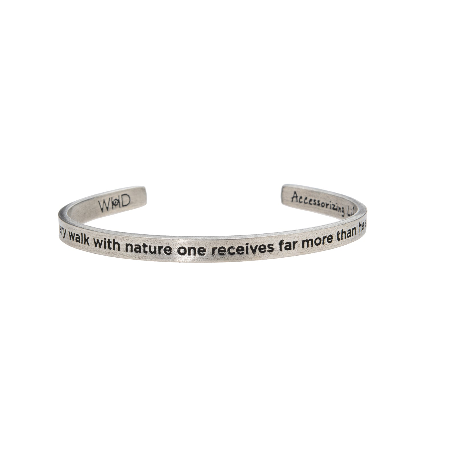 In every walk of nature JOHN MUIR Quotable Cuffs - Whitney Howard Designs