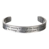 Serenity Prayer Bracelet- Inspirational Engraved Pewter Bracelet by Quotable Cuffs - Whitney Howard Designs