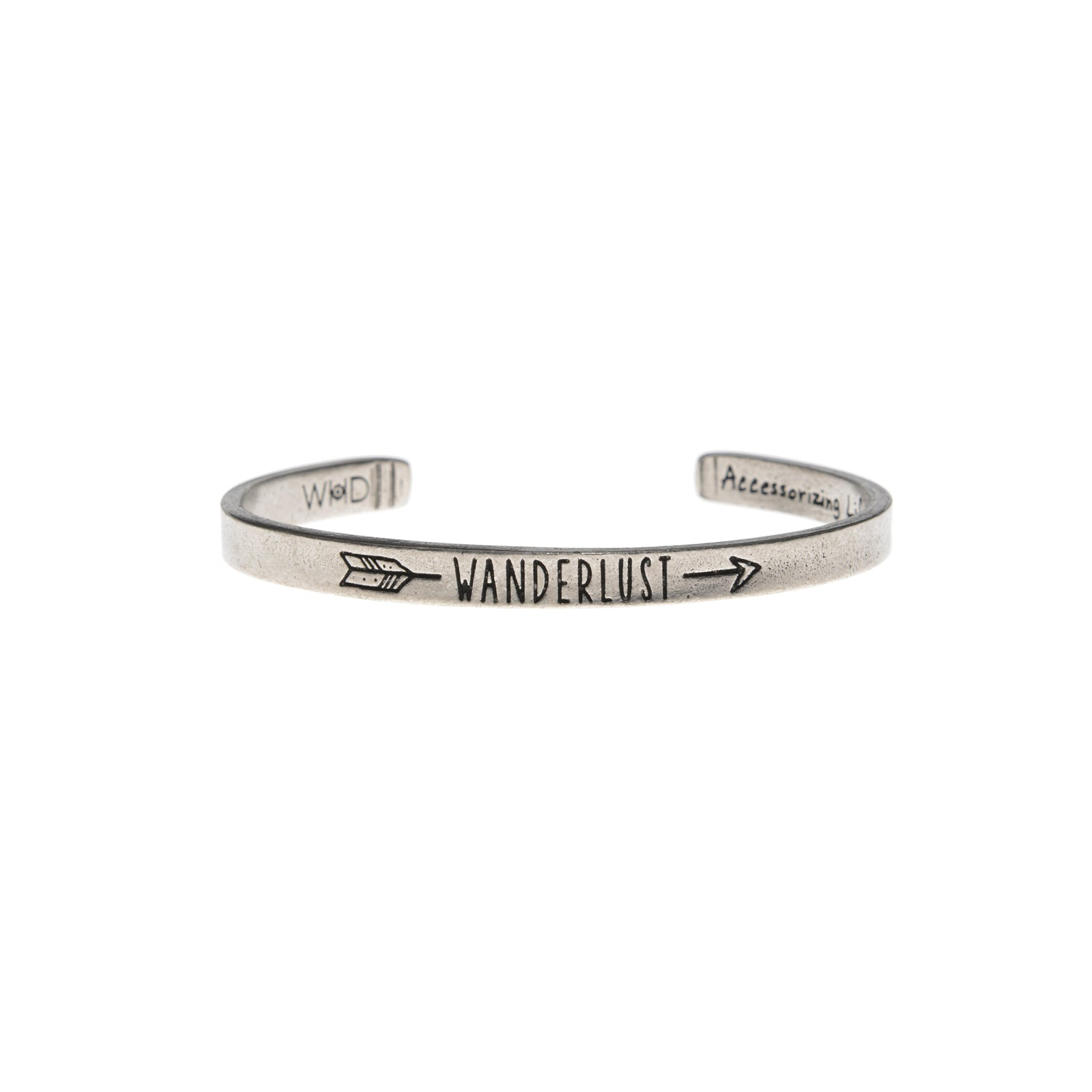 Wanderlust Quotable Cuff - Whitney Howard Designs