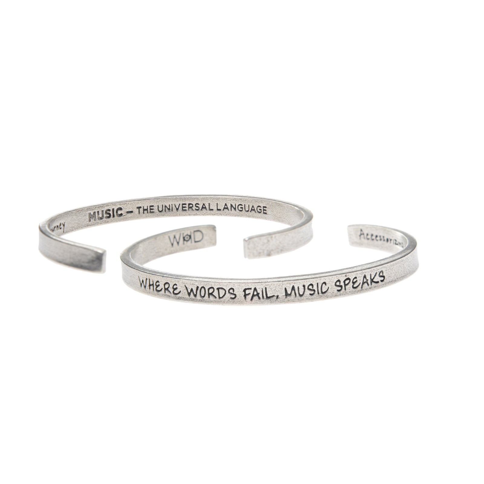 Where Words fail Music Speaks Quotable Cuff - Whitney Howard Designs