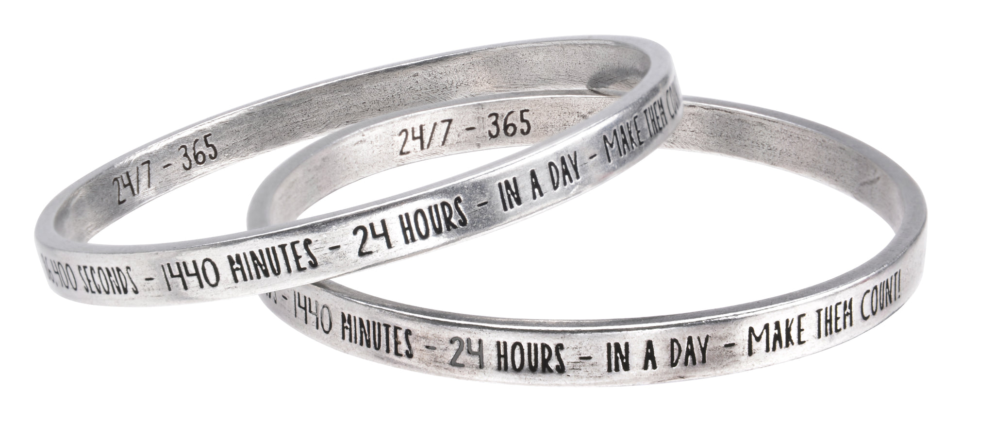 "24/7 365 Make Every Moment Count - ""Full Circle"" Bangle - Whitney Howard Designs"
