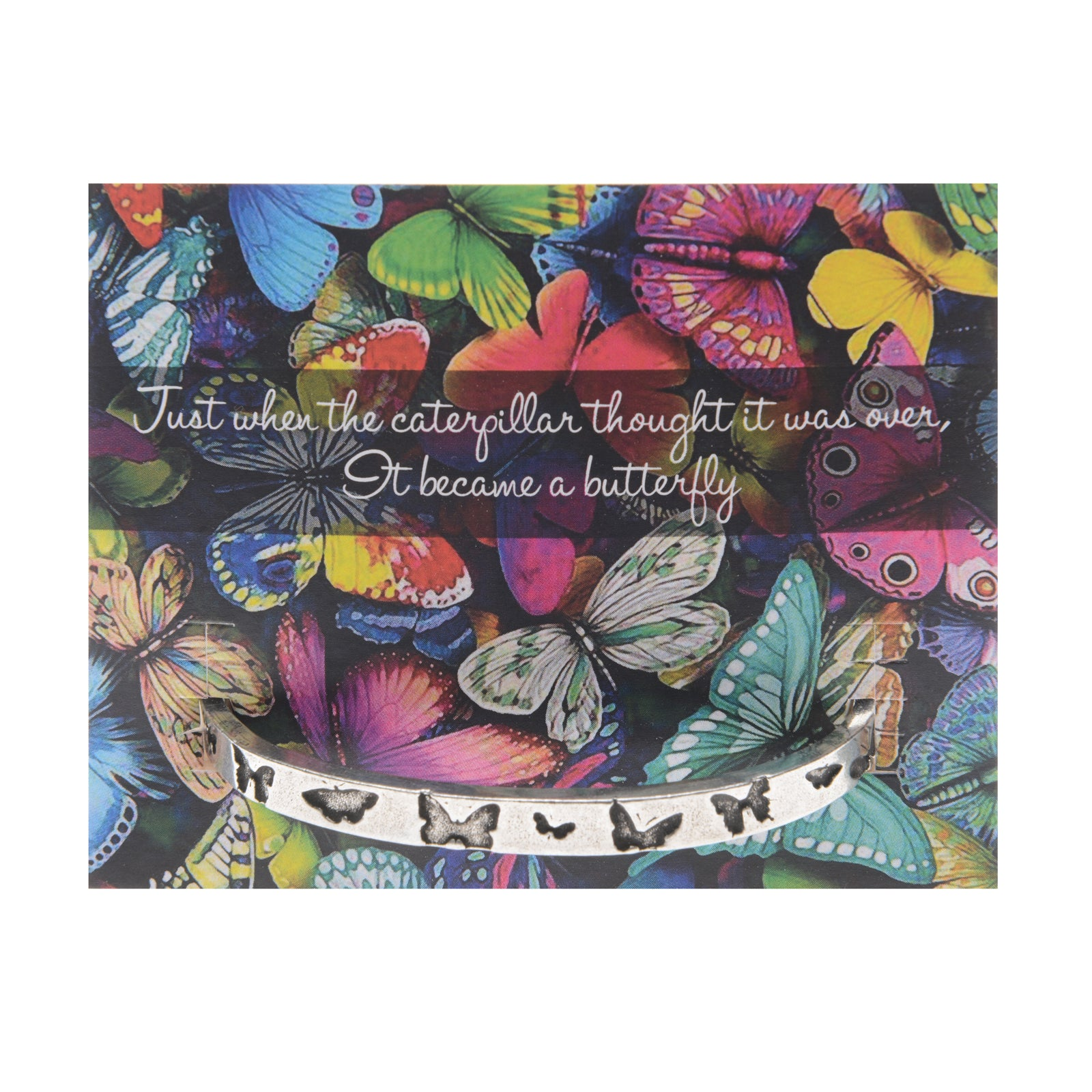 Butterfly Quotable Cuff Bracelet - Whitney Howard Designs
