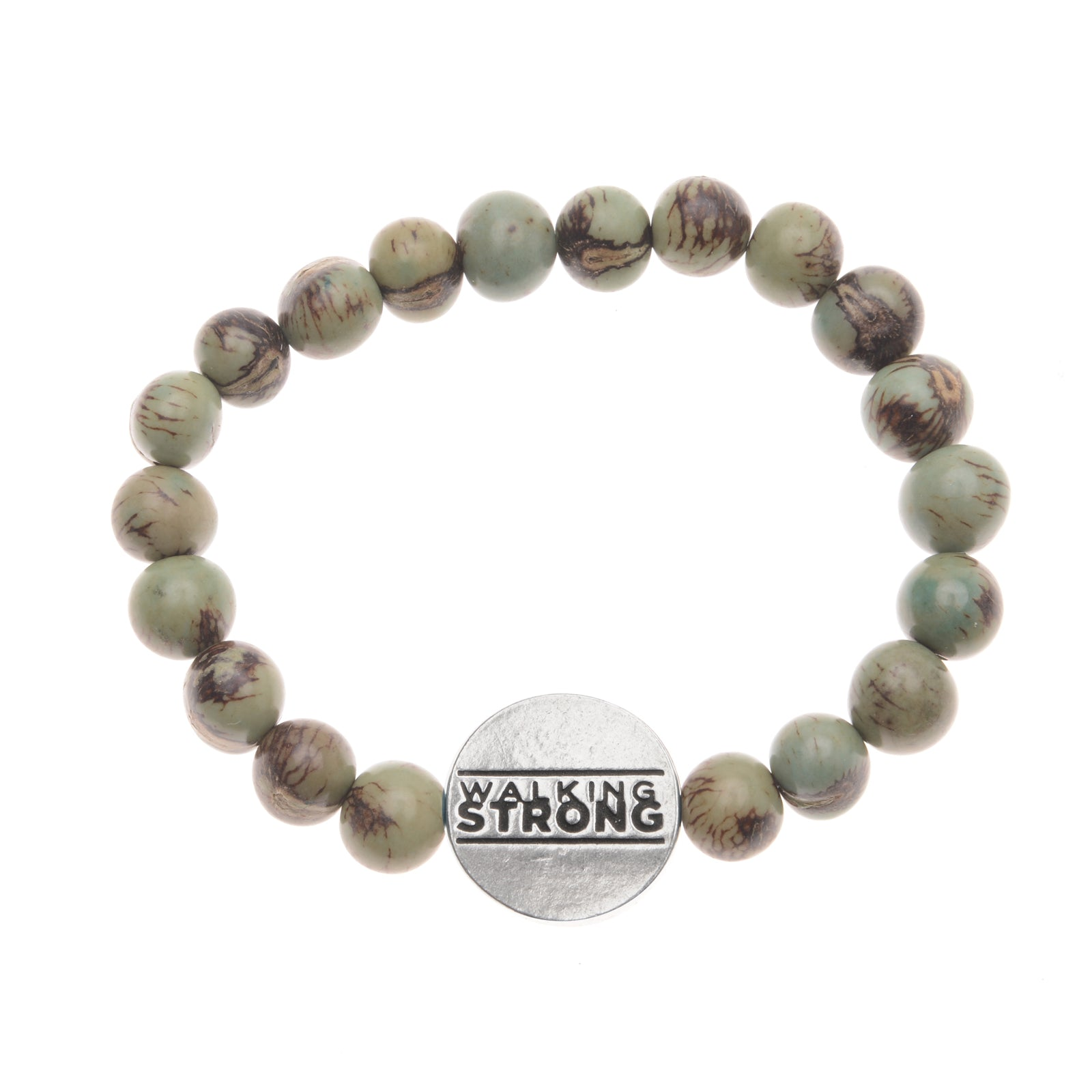 Walking Strong Bracelet - Tiger Aqua ACAI Seeds of Life Bracelet