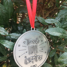 Teacher Love Inspire - Teacher Ornament - Whitney Howard Designs
