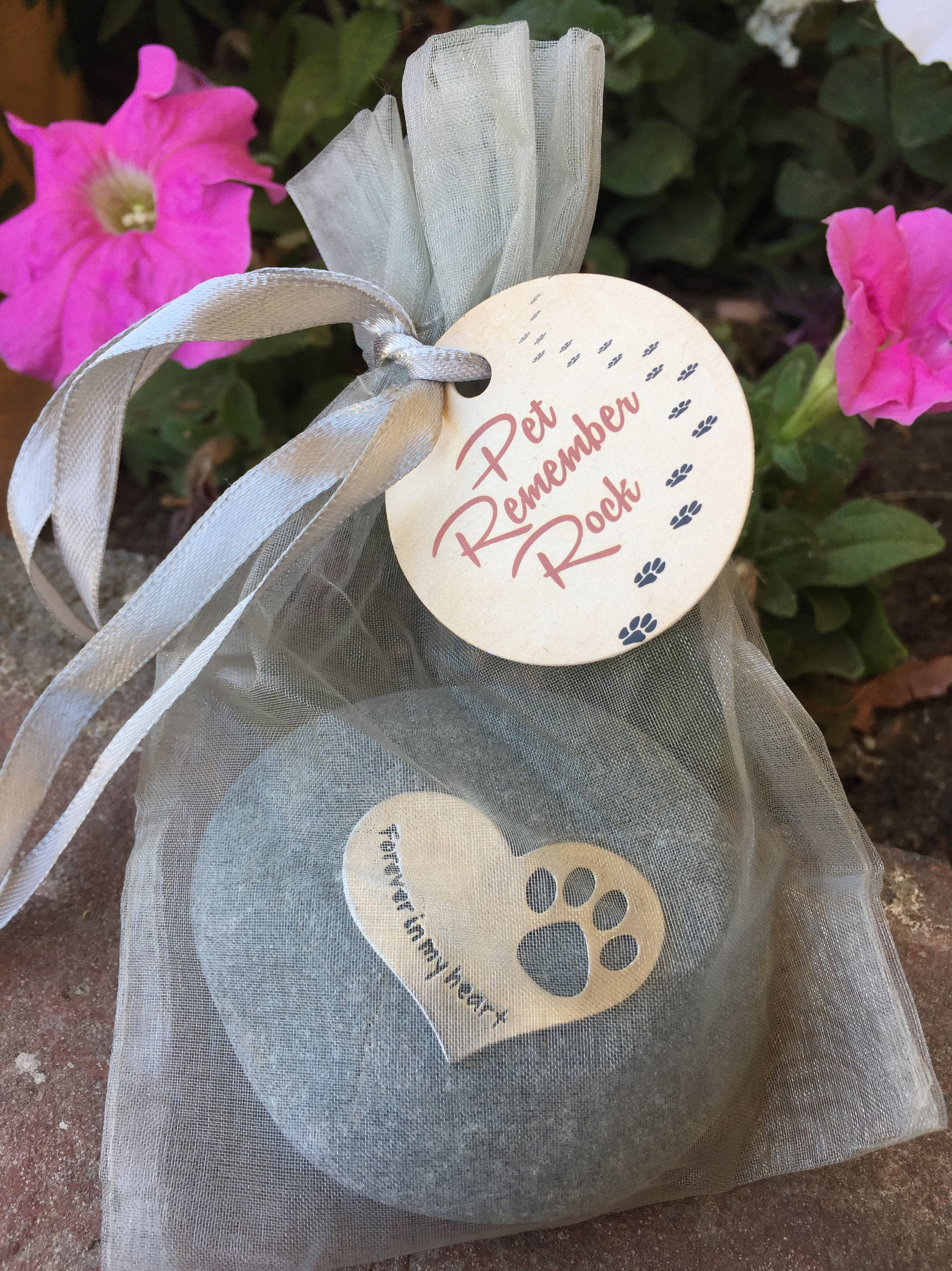 FOREVER IN MY HEART PET MEMORIAL ROCK - Whitney Howard Designs