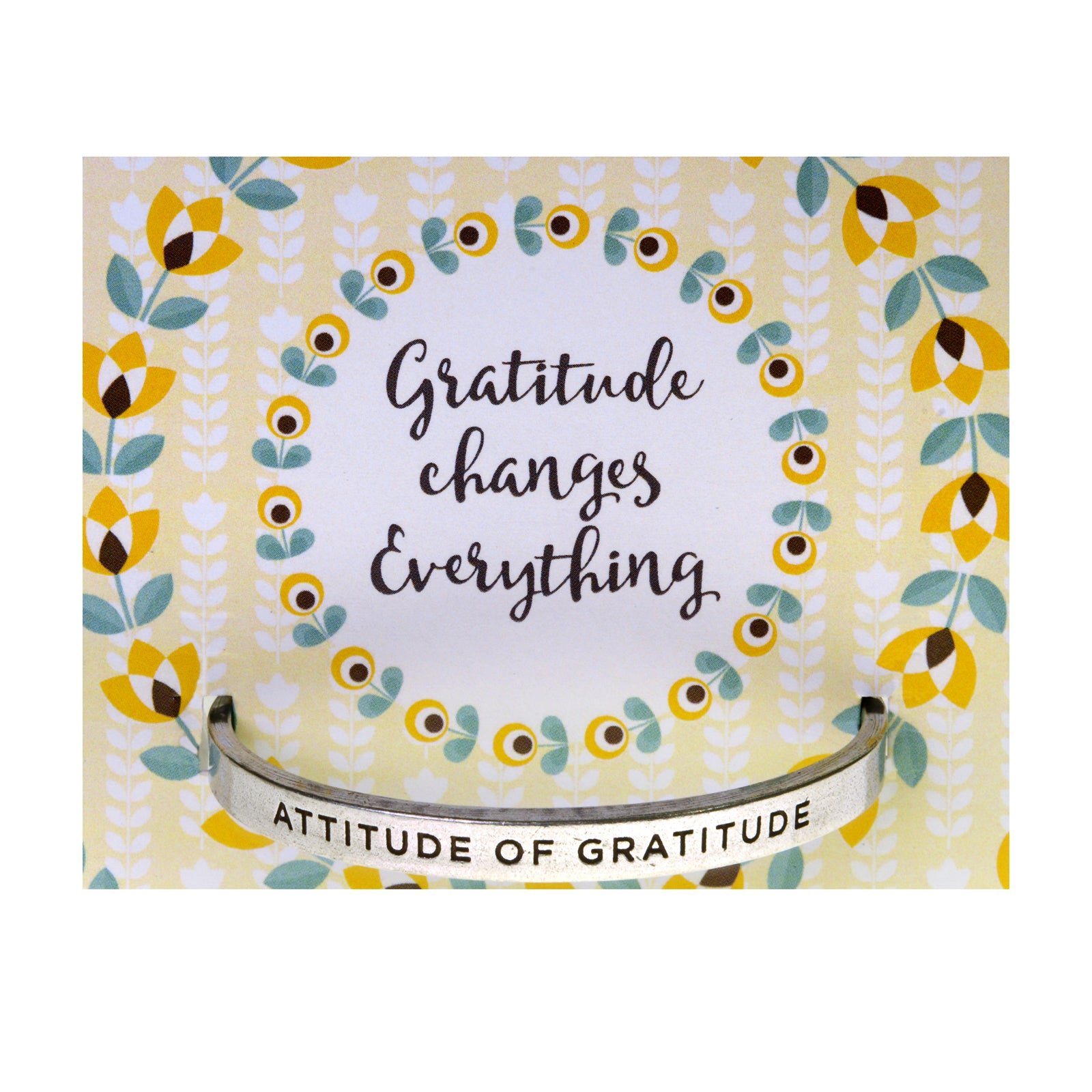Attitude of Gratitude Quotable Cuff Bracelet - Whitney Howard Designs