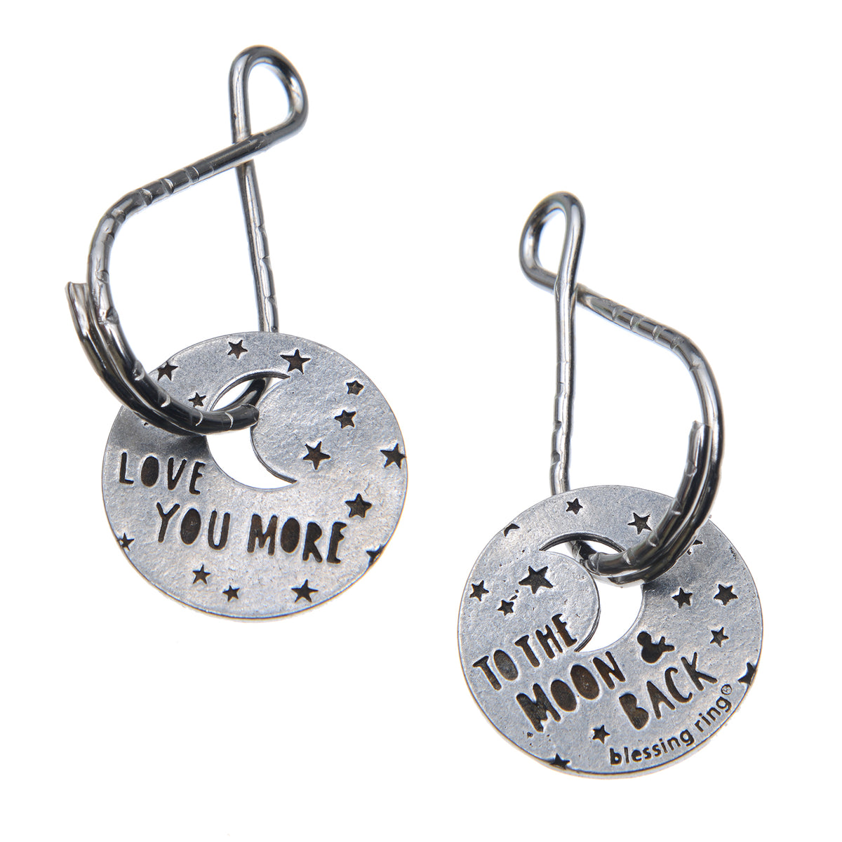 Love You More Blessing Rings Charm, Pewter, Handcrafted