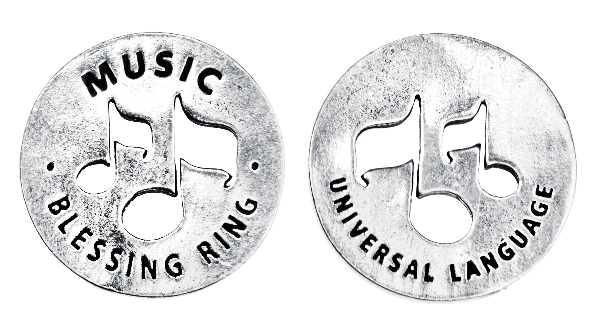 Music Blessing Ring (on back - universal language) - Whitney Howard Designs