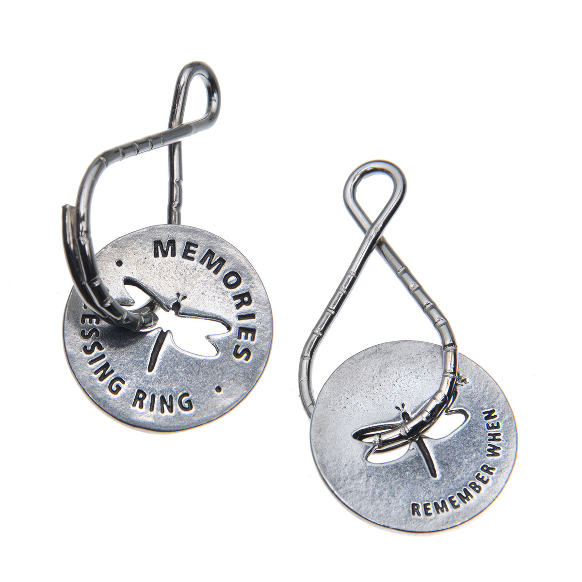 Memories Blessing Ring Charm, Pewter, Handcrafted