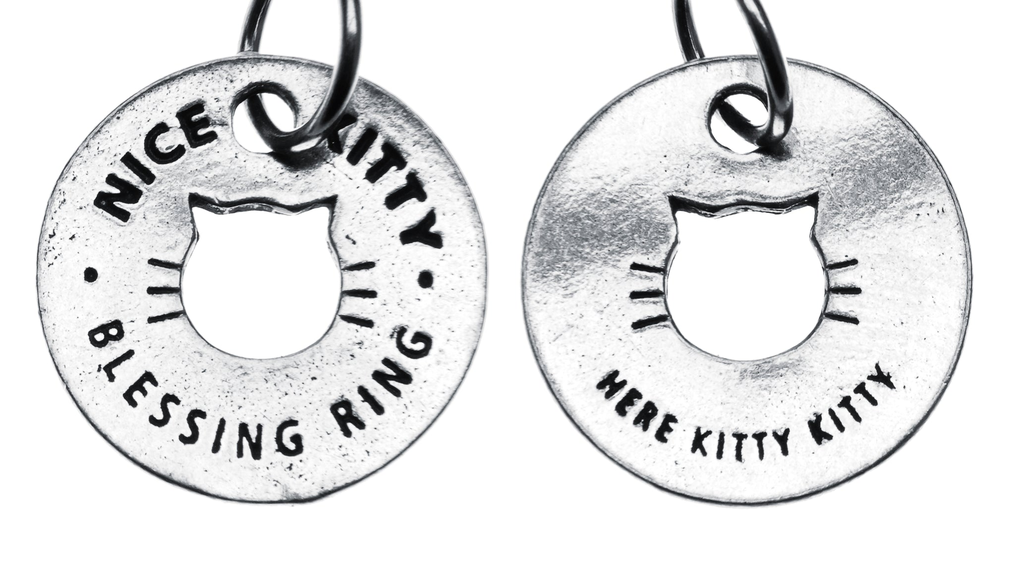 Nice Kitty Blessing Ring <small>(on back - here kitty kitty)</small> - Whitney Howard Designs