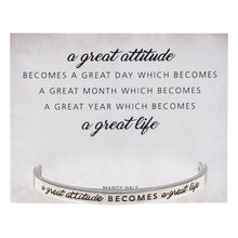 A Great Attitude Quotable Cuff - Whitney Howard Designs