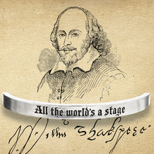 All The World's A Stage Quotable Cuff Bracelet - Whitney Howard Designs