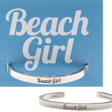 Beach Girl Quotable Cuff Bracelet - Whitney Howard Designs
