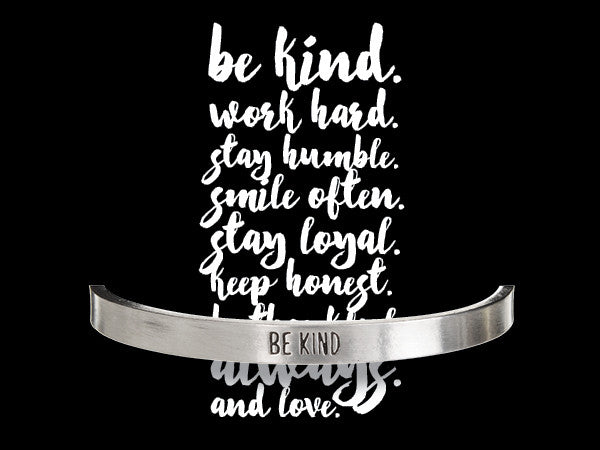 Be Kind Quotable Cuff Bracelet - Whitney Howard Designs