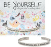 Be Yourself Quotable Cuff Bracelet - Whitney Howard Designs
