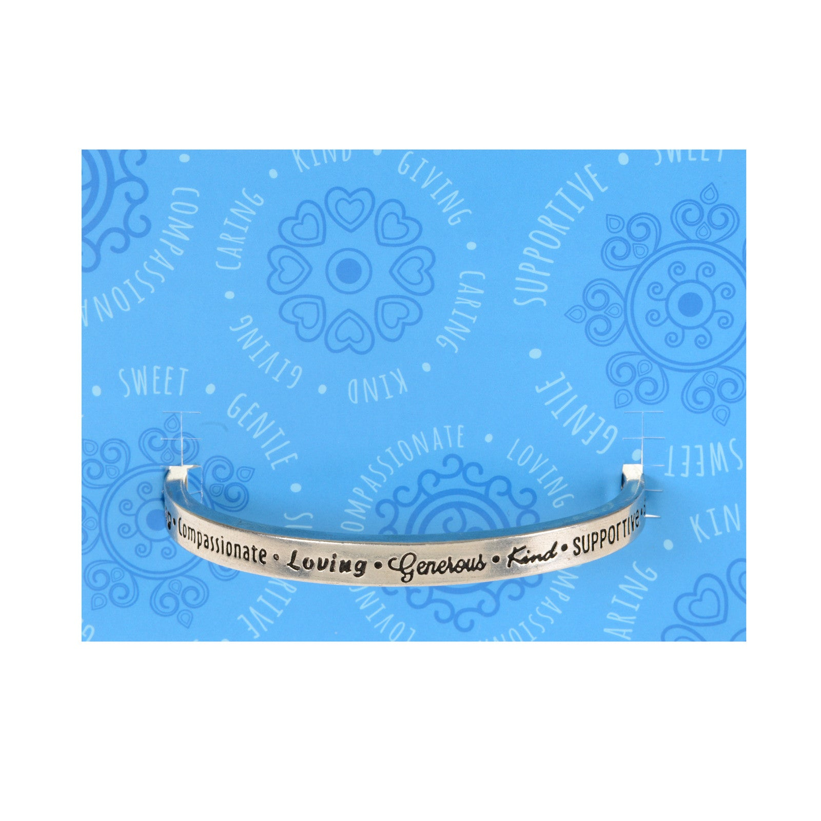 Caring, Compassionate, Loving Quotable Cuff - Whitney Howard Designs