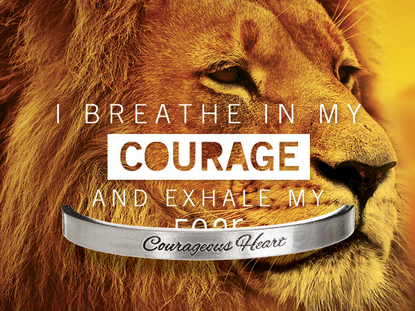 Courageous Heart Quotable Cuff - Whitney Howard Designs