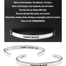 Changemaker Quotable Cuff Bracelet