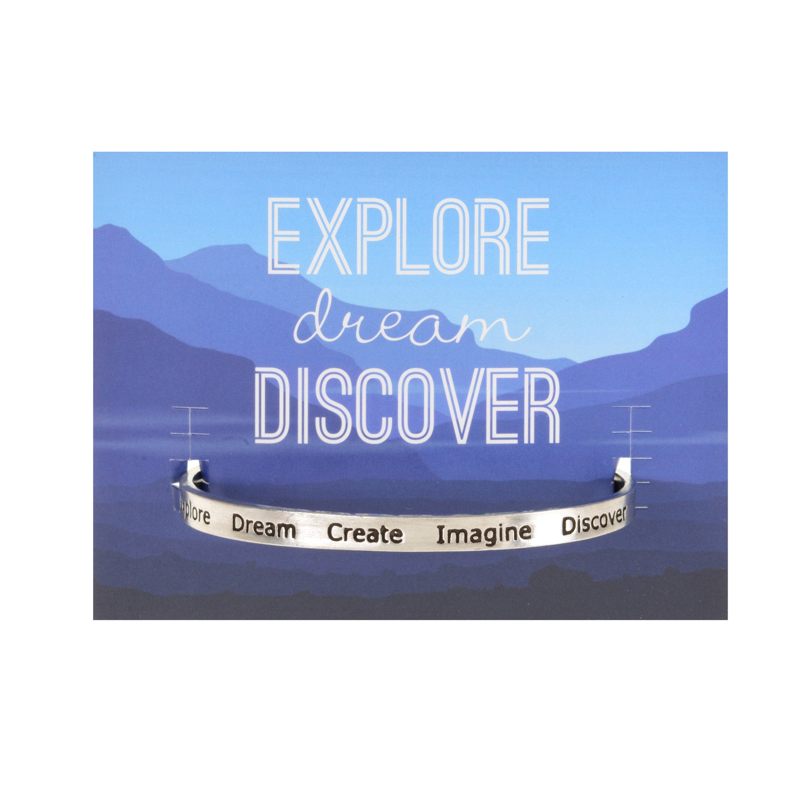 Explore-Dream-Create Quotable Cuff Bracelet - Whitney Howard Designs
